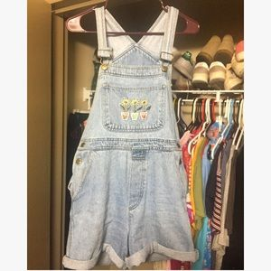 vtg embroidered overalls